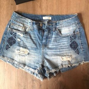 Muddy low rise shorts